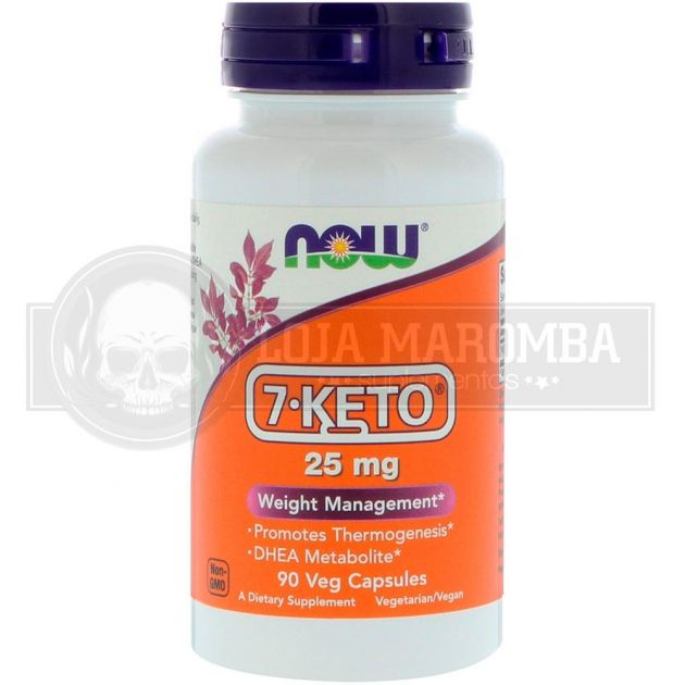 7 KETO DHEA 25mg (90 Vcaps) - Now Foods