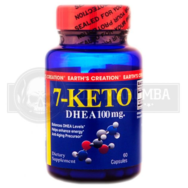 7 KETO DHEA 100mg (60 Cápsulas) - Earth's Creation USA