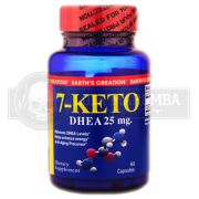 7 KETO DHEA 25mg (60 Cápsulas) - Earth's Creation USA