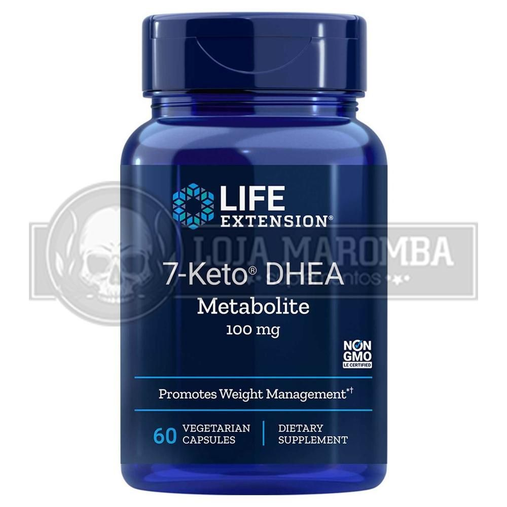 7 KETO DHEA 100mg (60 Caps) - Life Extension (Vencimento 11/2021)