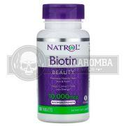 Biotina 10.000mcg (100 tabs) - Natrol