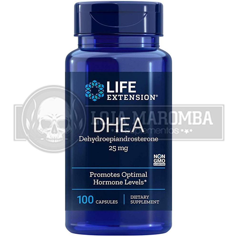 DHEA 25mg (100 caps) - Life Extension