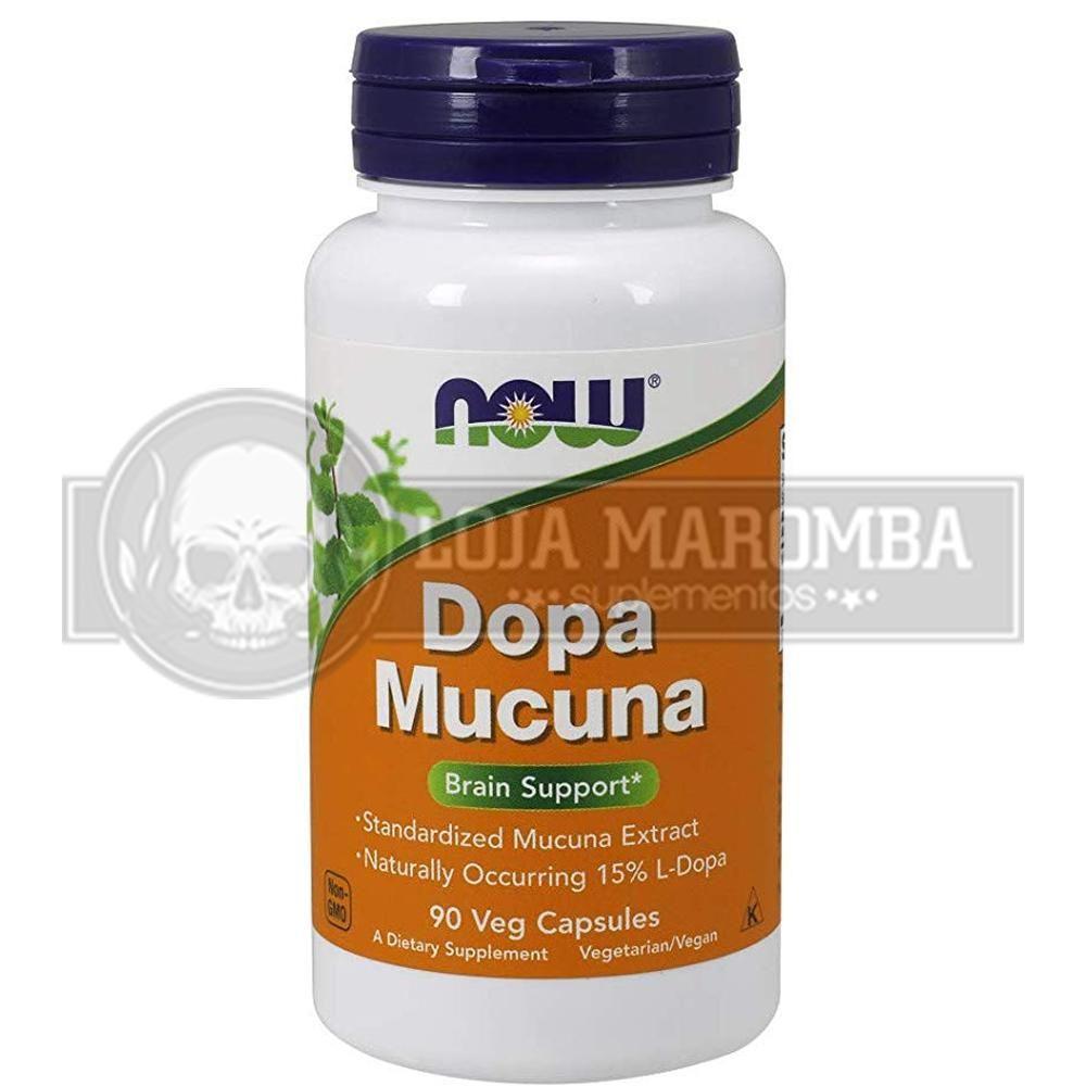 Dopa Mucuna (90 Cápsulas Veganas) - Now Foods