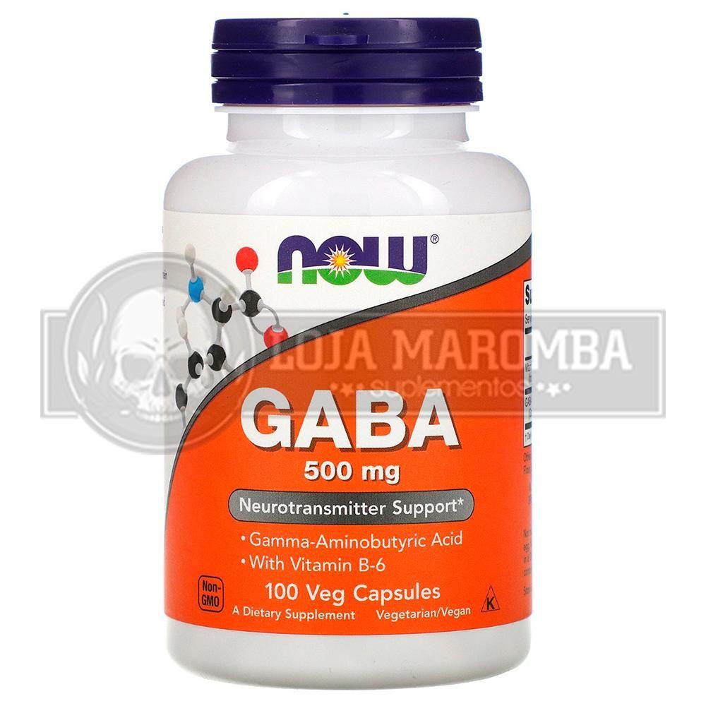 Gaba 500mg (100 Caps) - Now Foods