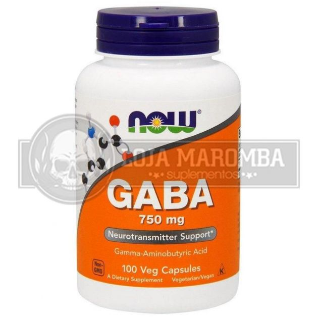 Gaba 750mg (100 Caps) - Now Foods