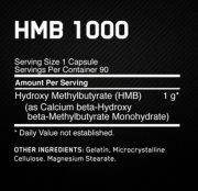 HMB 1000mg (90 capsulas) Optimum Nutrition