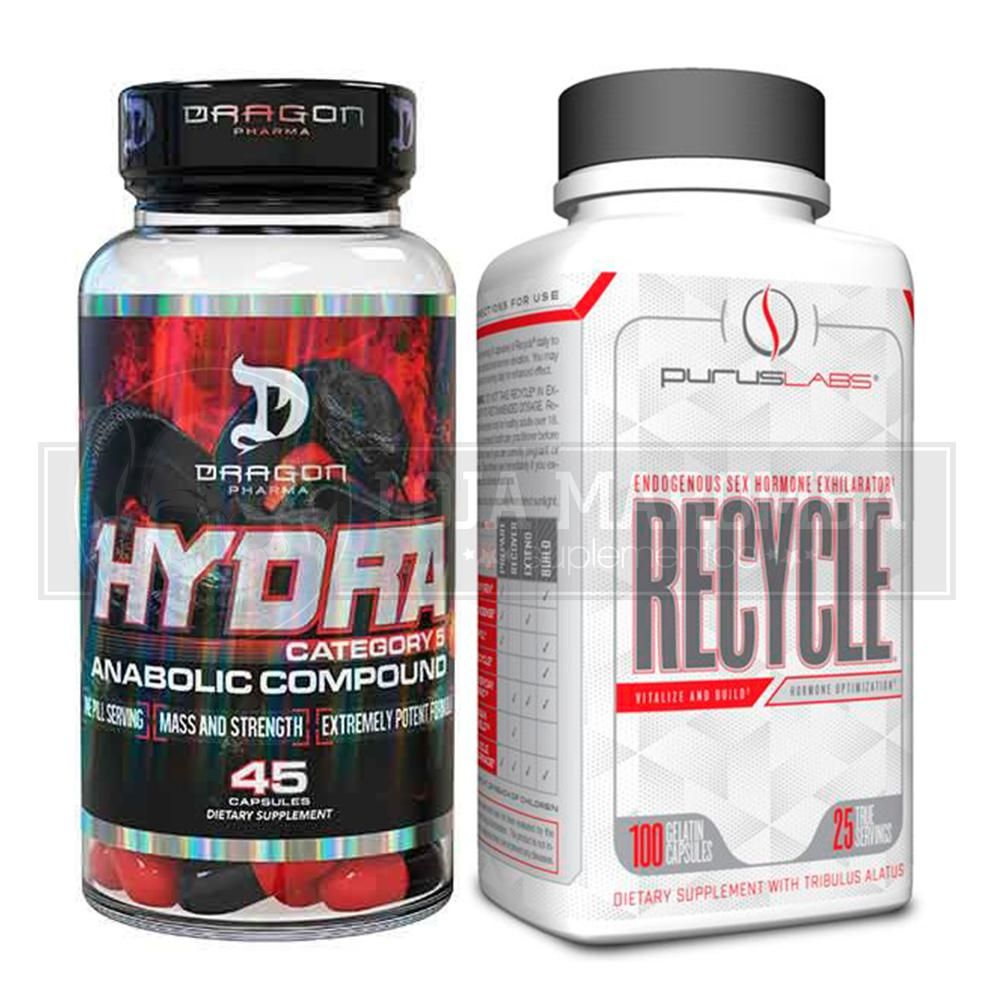 Hydra (45 Cápsulas) - Dragon Pharma + GRÁTIS  TPC Recycle (100caps) Purus Labs