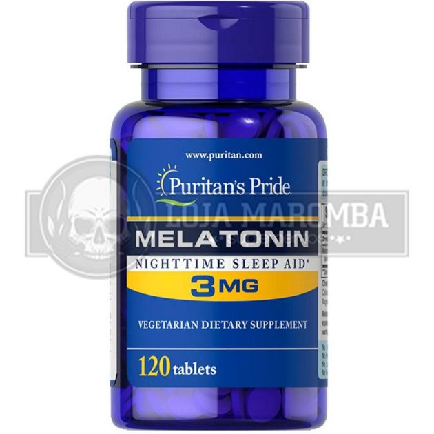 Melatonina 3mg (120 Tabs) - Puritan's Pride