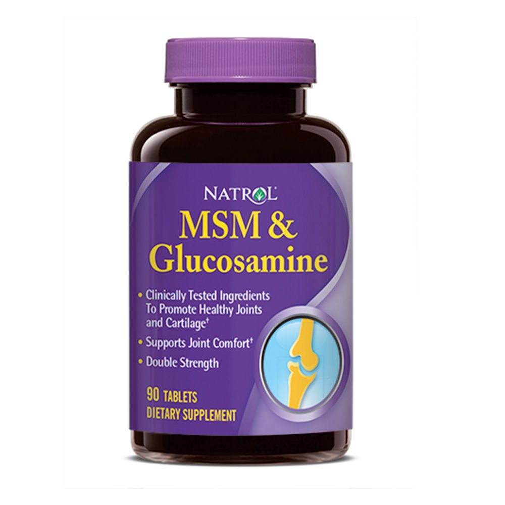 MSM e Glucosamina (90 Tablets) - Natrol