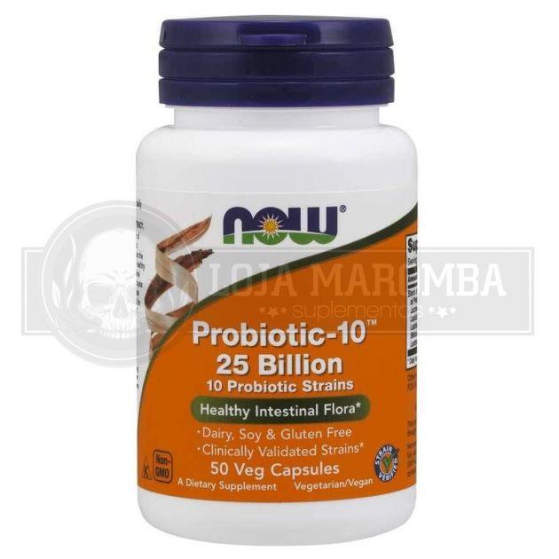 Probiótico Probiotic-10 25 Billion (50 caps) - Now Foods