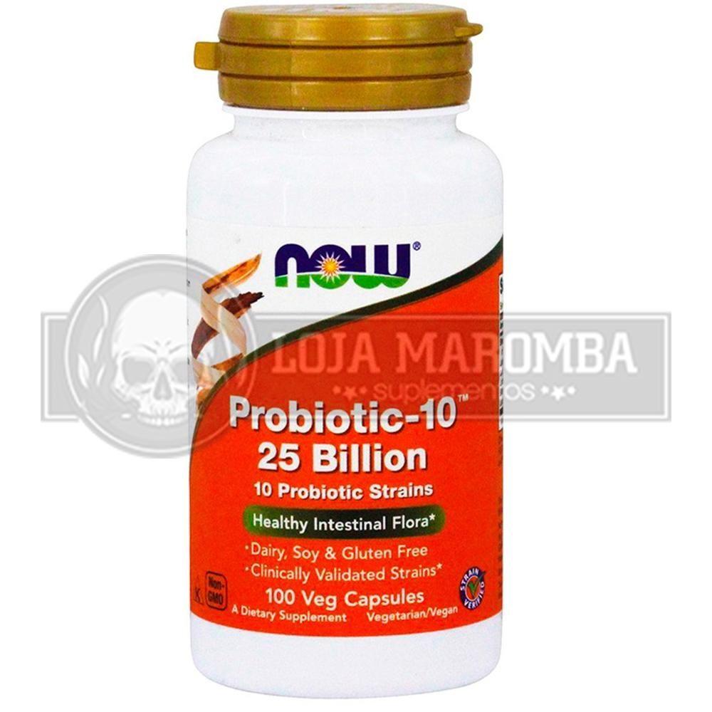 Probiótico Probiotic-10 25 Billion (100 caps) - Now Foods
