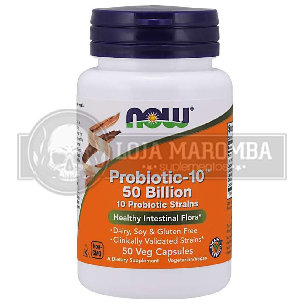 Probiótico Probiotic-10 50 Billion (50 caps) - Now Foods