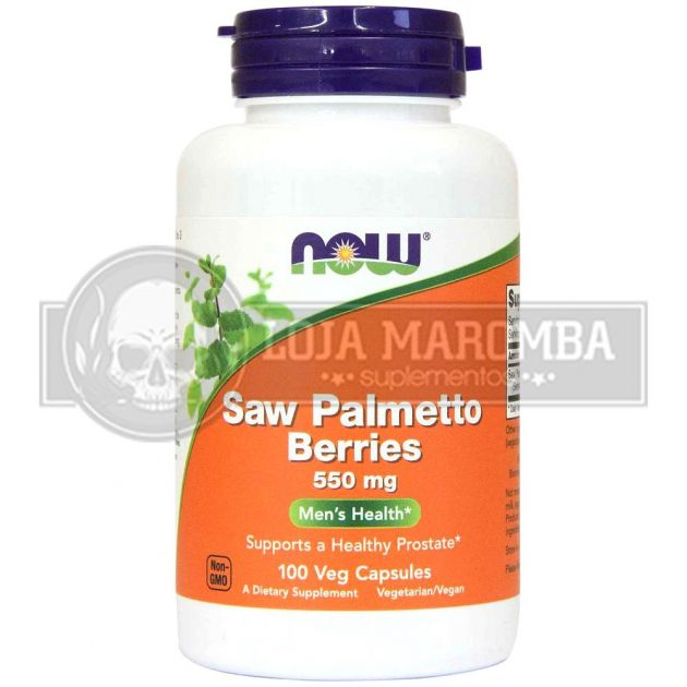 Saw Palmetto Berries 550mg (100 Caps)  - Now Foods