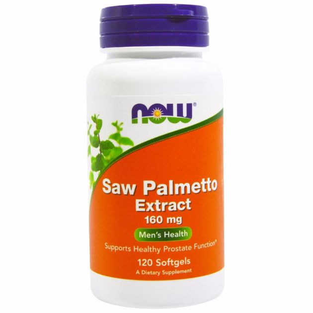 Saw Palmetto Extract 160mg (120 Softgels)  - Now Foods