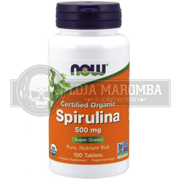 Spirulina 500mg (100 tabs) - Now Foods