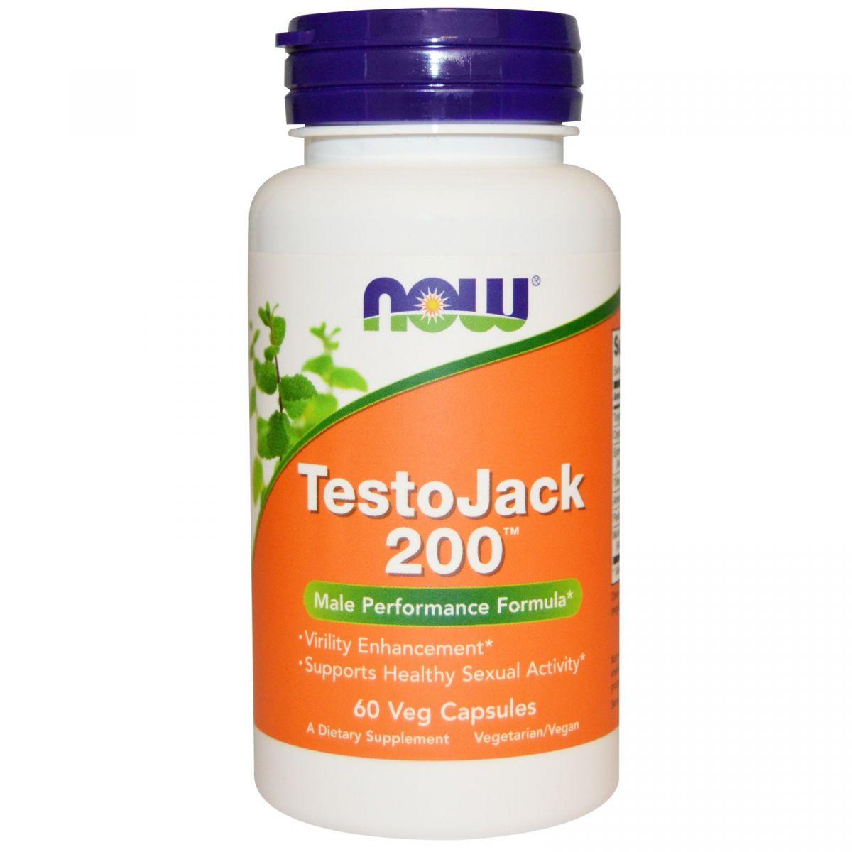 Testojack 200 (60 Cápsulas) - Now Foods
