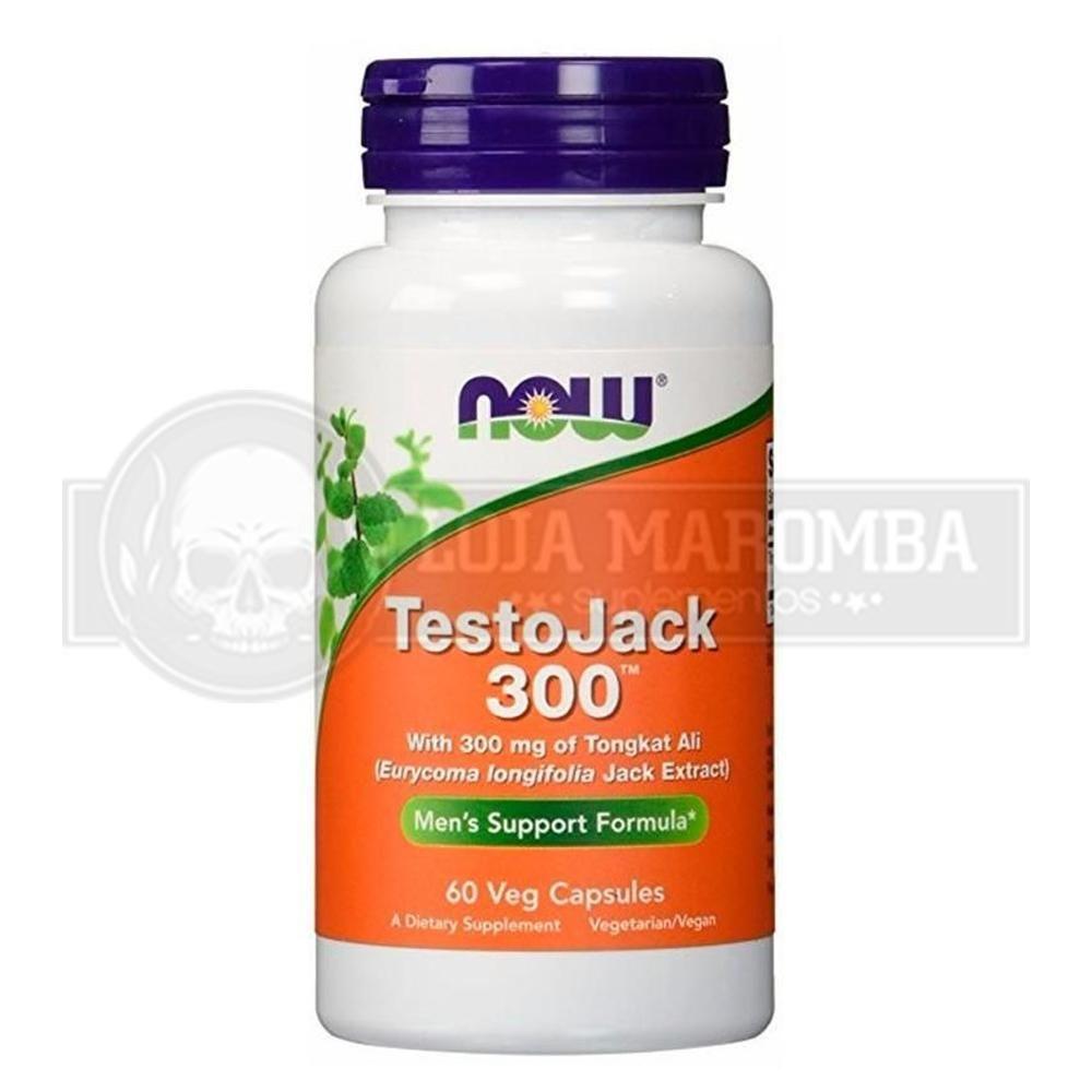 Testojack 300 (60 Cápsulas) - Now Foods VALIDADE 08/2021