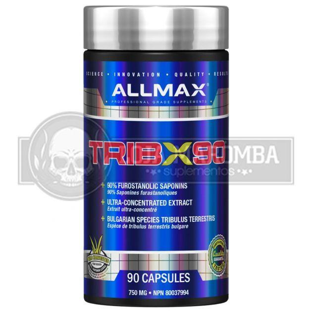 Tribulus Trib X90 (90caps) Unico com 90% Saponins (750mg) - Allmax