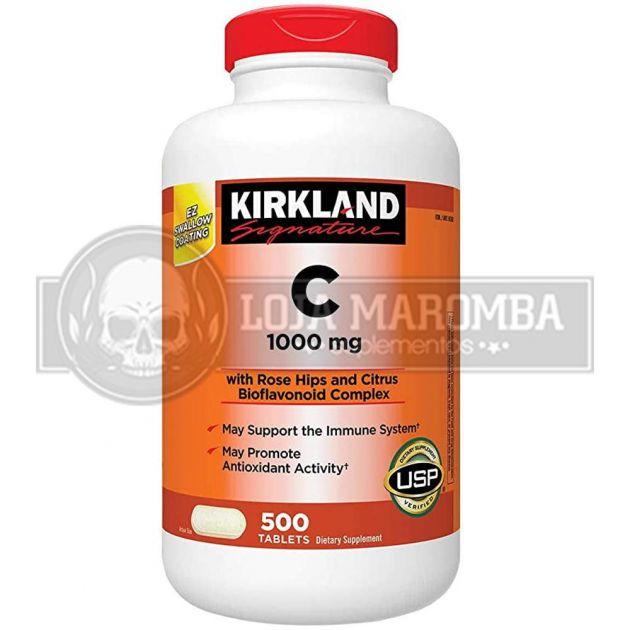 Vitamina C 1000mg (500 tabs) - Kirkland Signature