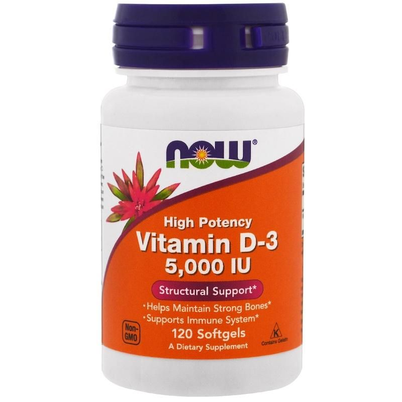 Vitamina D-3 Now 5000 Iu (120 Capsulas) - Now Foods