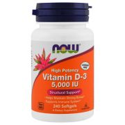 Vitamina D-3 Now 5000 Iu (240 Capsulas) - Now Foods